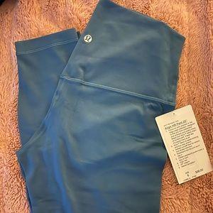 lululemon athletica Pants - Lululemon aligns size 6 Petrol Blue NWT